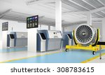 metal 3d printer and jet fan... | Shutterstock . vector #308783615