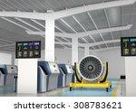 metal 3d printer and jet fan... | Shutterstock . vector #308783621