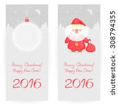 two festive  greeting cards in... | Shutterstock .eps vector #308794355