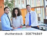 image of business partners... | Shutterstock . vector #308796869