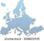 map of europe | Shutterstock .eps vector #308802935
