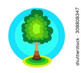 tree icon concept. green tree... | Shutterstock .eps vector #308808347