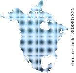 map of north america | Shutterstock .eps vector #308809325