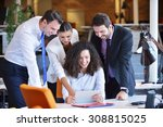 image of business partners... | Shutterstock . vector #308815025