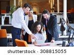 image of business partners... | Shutterstock . vector #308815055