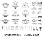 set of golf country club logo...   Shutterstock .eps vector #308821535