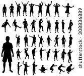man silhouette set.... | Shutterstock .eps vector #308836889