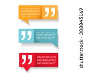 speech bubbles with quotes icon ... | Shutterstock .eps vector #308845169