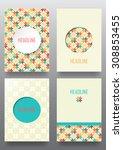 set of brochures. vintage style.... | Shutterstock .eps vector #308853455