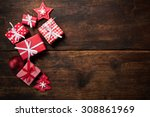 christmas gift boxes and... | Shutterstock . vector #308861969