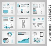 vector illustration of  seo... | Shutterstock .eps vector #308862521