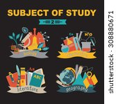subjects of study  biology ... | Shutterstock .eps vector #308880671