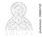 vector social account icon | Shutterstock .eps vector #308881769
