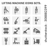 lifting machine icons sets. | Shutterstock .eps vector #308882399