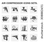 air compressor icons sets. | Shutterstock .eps vector #308882651