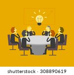 business team looking at light... | Shutterstock .eps vector #308890619