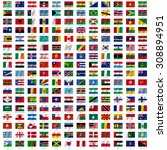 flags of the world and  map on... | Shutterstock . vector #308894951