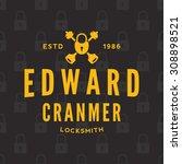 name based locksmith emblem....   Shutterstock .eps vector #308898521