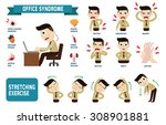 office syndrome infographics.... | Shutterstock .eps vector #308901881