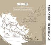 illustration of snooker....