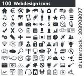 100 webdesign icons set  black  ...