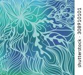 waves doodle design colorful... | Shutterstock .eps vector #308910101