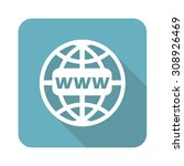 global network icon  square ...