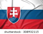 slovakia flag on soft and... | Shutterstock . vector #308932115