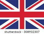 flag of the united kingdom.... | Shutterstock .eps vector #308932307