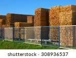 Wooden Boards Stacked At The...