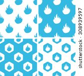 flame patterns set  simple and...