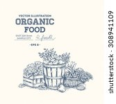 organic food design template.... | Shutterstock .eps vector #308941109