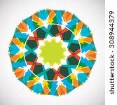 abstract mandalas. ornament... | Shutterstock .eps vector #308944379