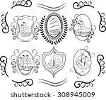 sailboat icons. sailing ship ...   Shutterstock .eps vector #308945009