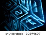 cyber numpad | Shutterstock . vector #30894607