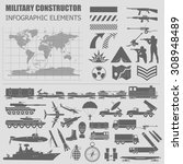 military infographic template.... | Shutterstock .eps vector #308948489
