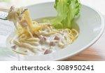 Spaghetti Carbonara With Bacon...