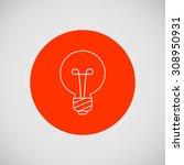line icon of round lightbulb   Shutterstock .eps vector #308950931