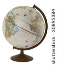 An Antique Globe Isolated On...