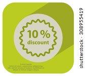 discount ten  10  percent... | Shutterstock .eps vector #308955419