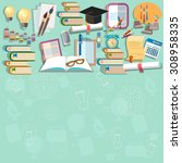 education background diploma... | Shutterstock .eps vector #308958335