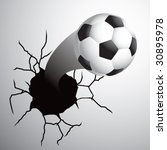 soccer ball coming out of... | Shutterstock .eps vector #30895978