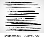 a set of grunge vector... | Shutterstock .eps vector #308960729