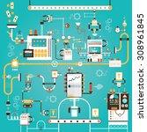 modern vector illustration of... | Shutterstock .eps vector #308961845