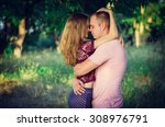 kiss the girl and the man on... | Shutterstock . vector #308976791