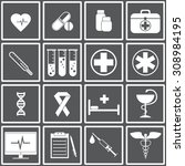 web icons set for medicine.... | Shutterstock .eps vector #308984195
