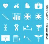 web icons set for medicine.... | Shutterstock .eps vector #308984201