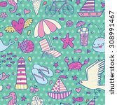 cool seamless pattern with...   Shutterstock .eps vector #308991467