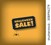 halloween sale poster template. ... | Shutterstock .eps vector #308996279