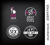 sex shop logo and badge design.   Shutterstock .eps vector #308997905